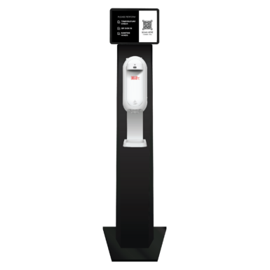 Commercial Body Temperature QR Code Check In Sanitiser Station